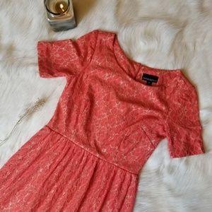 Cynthia Rowley Orange Floral Lace Dress